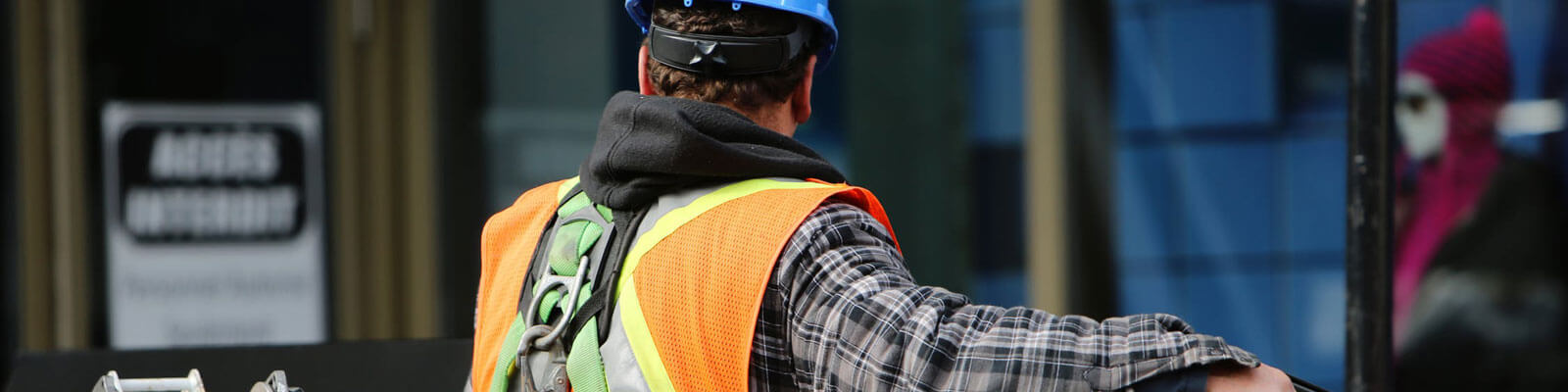 Man in Safety Vest and Hard Hat